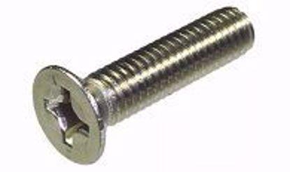 Picture of Винт 6х16 DIN 965 А2 потай крестообразный шлиц нержавеющая сталь